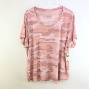 Lucky Brand Plus Size Sketched Rose Camo Tee 2X